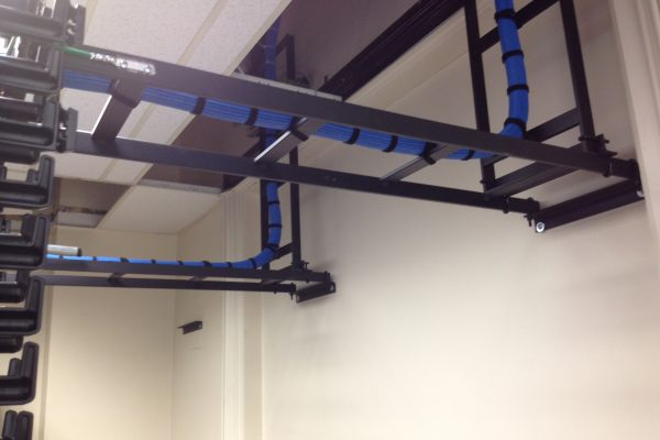 Closet Station Cabling and Ladder Racking